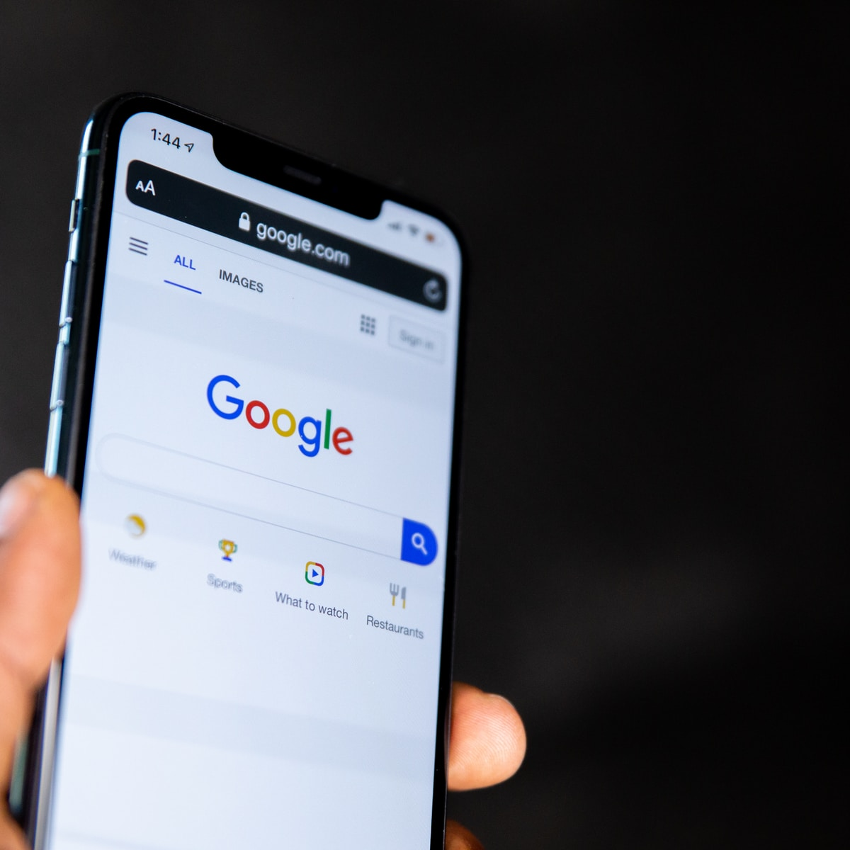 Buscador de Google app móviles Microsoft