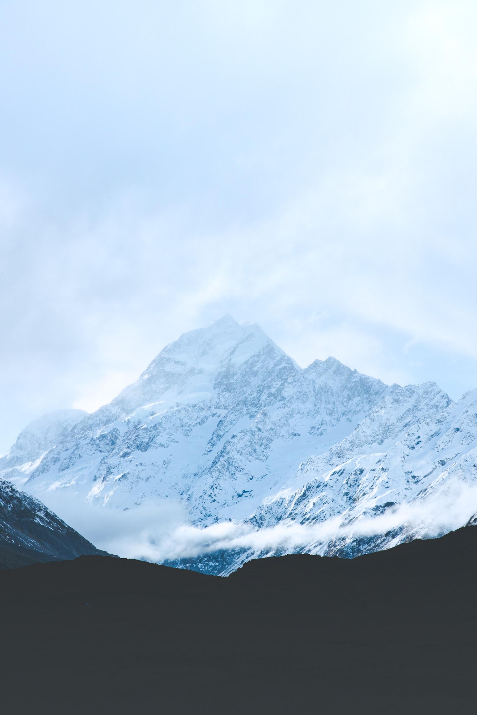 snowing mountain