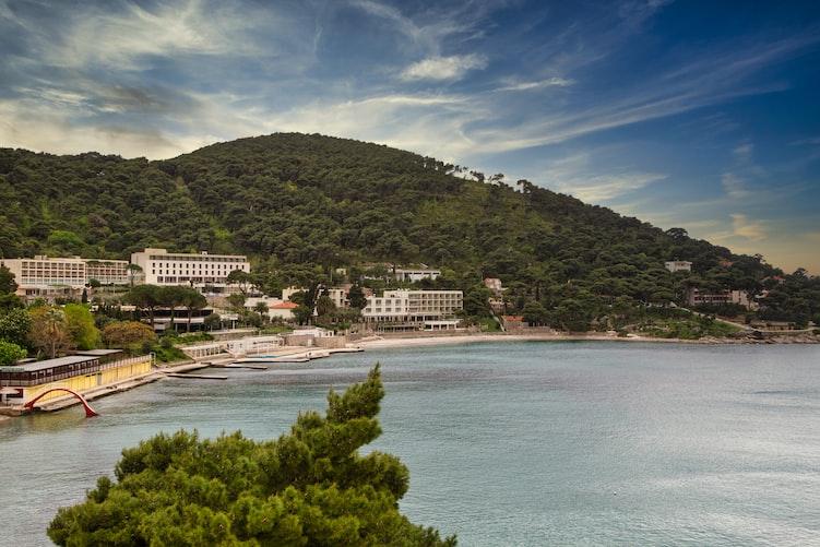 Playa de Lapad en Croacia