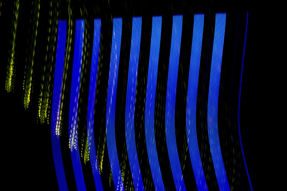 blue and white striped lights