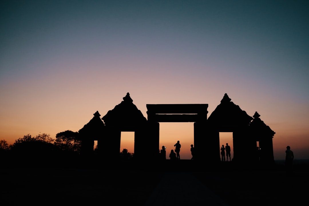 Sunset at Kedung Songo Temple Indonesia