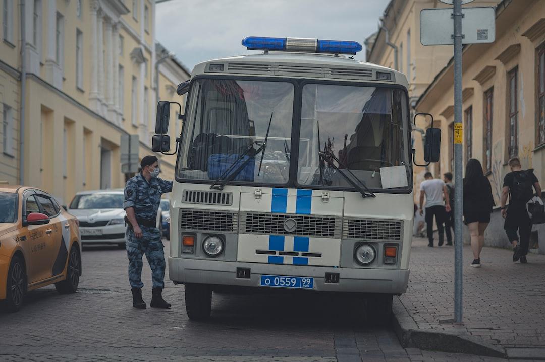 A police bus.