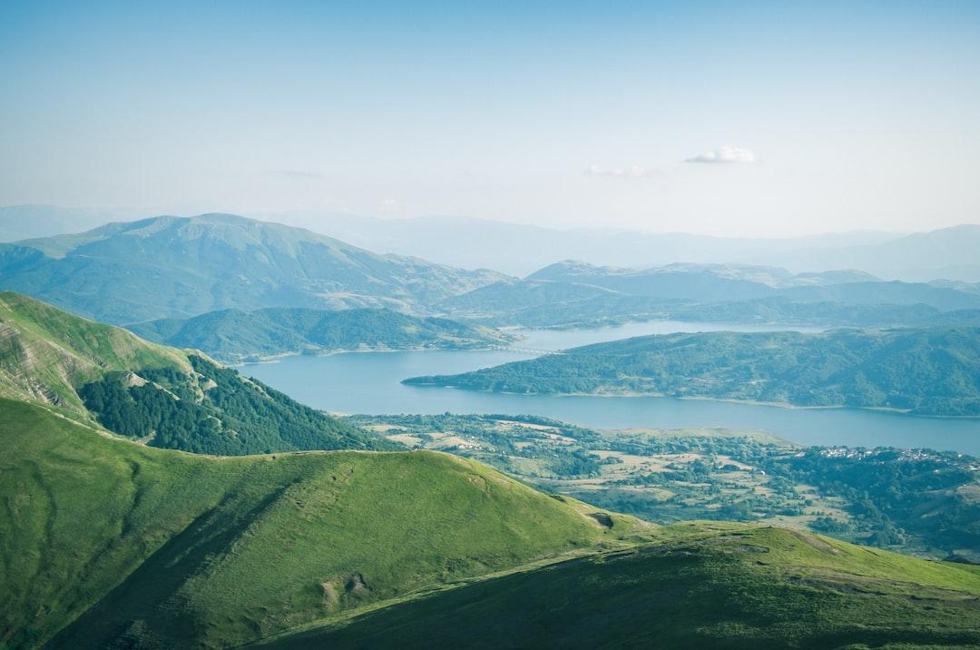 Lago di Campotosto (view from Cima della Laghetta), Italy