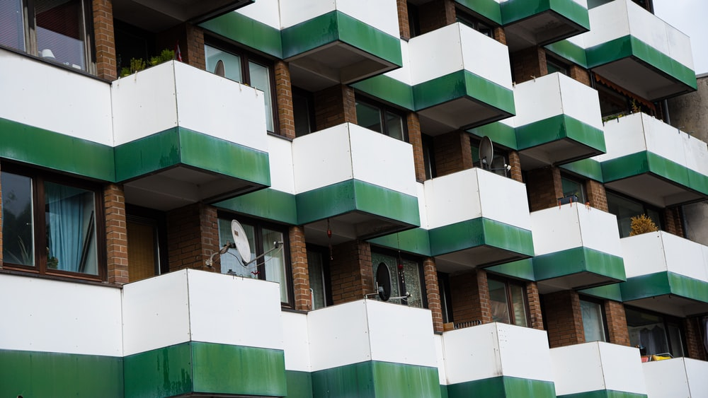 green and brown concrete building