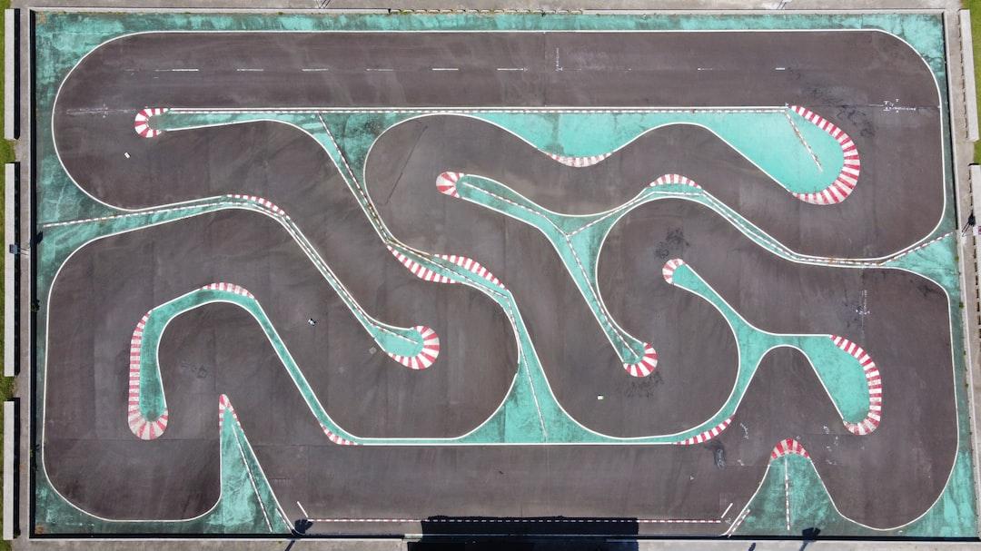 RC car race track from above. DJI Mavic Mini near Taipei Zoo.