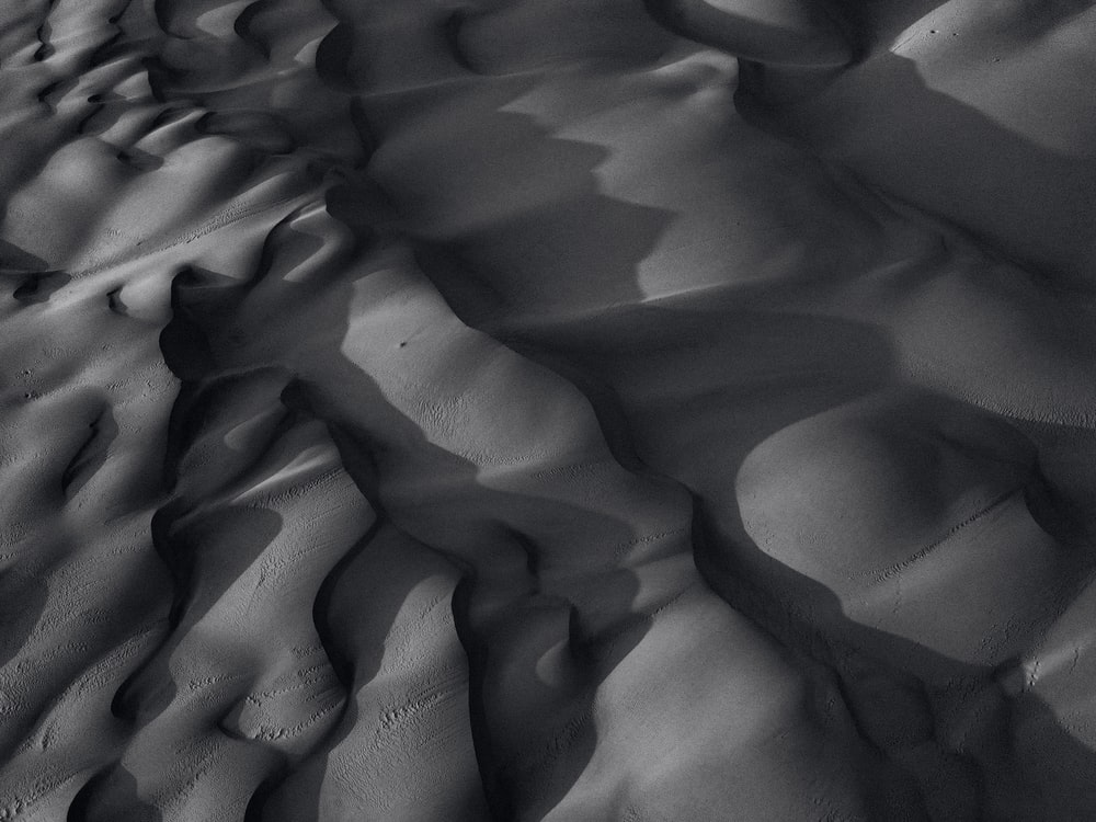 gray sand with water droplets