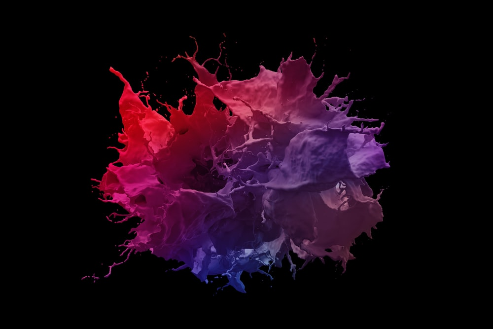 purple and blue smoke illustration