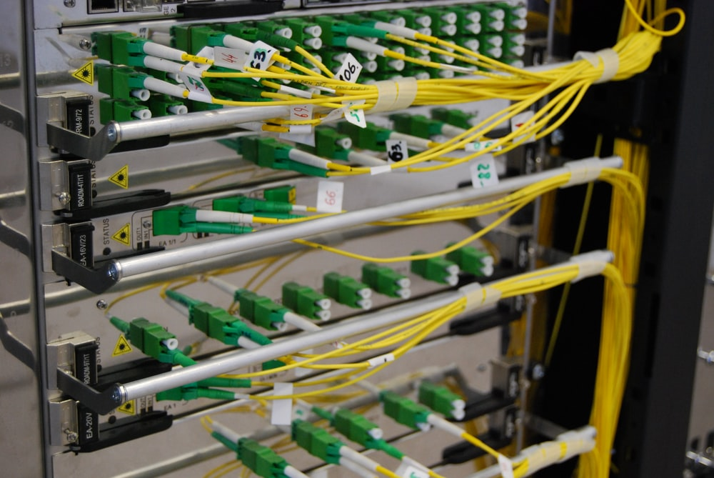 yellow and green electric wires