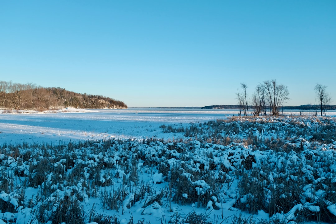 Fresh snowfall on Lake Champlain