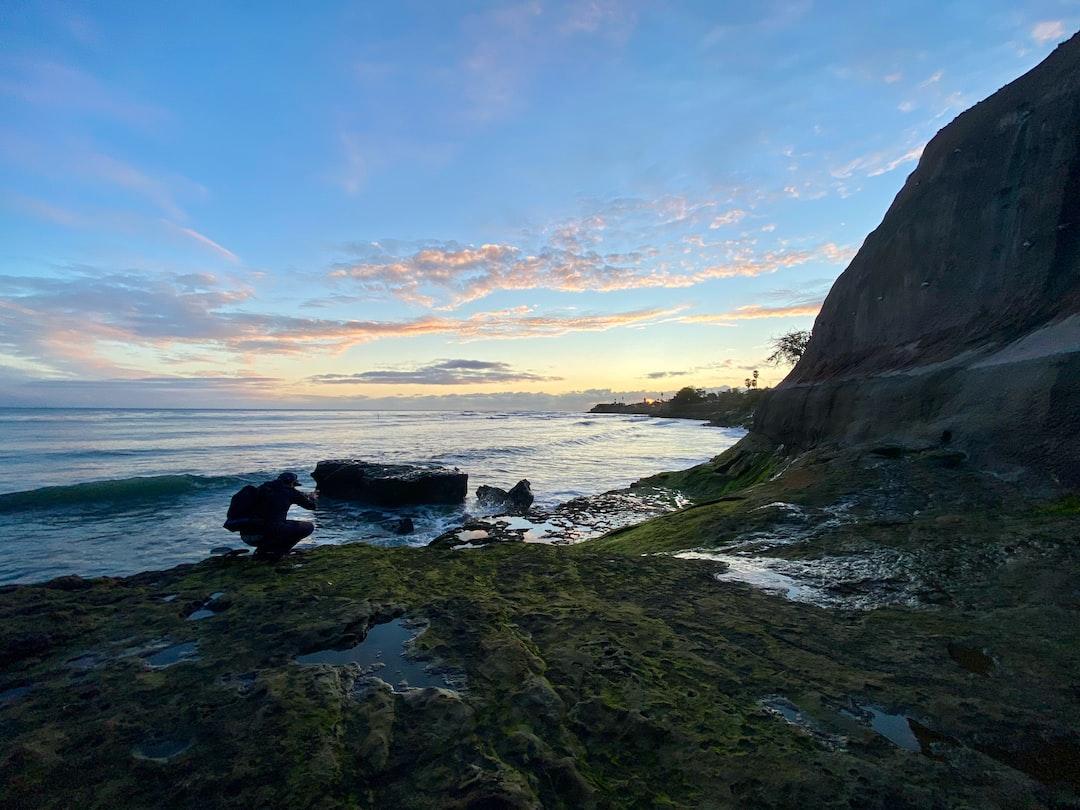 West coast sunset from the shores of Santa Cruz