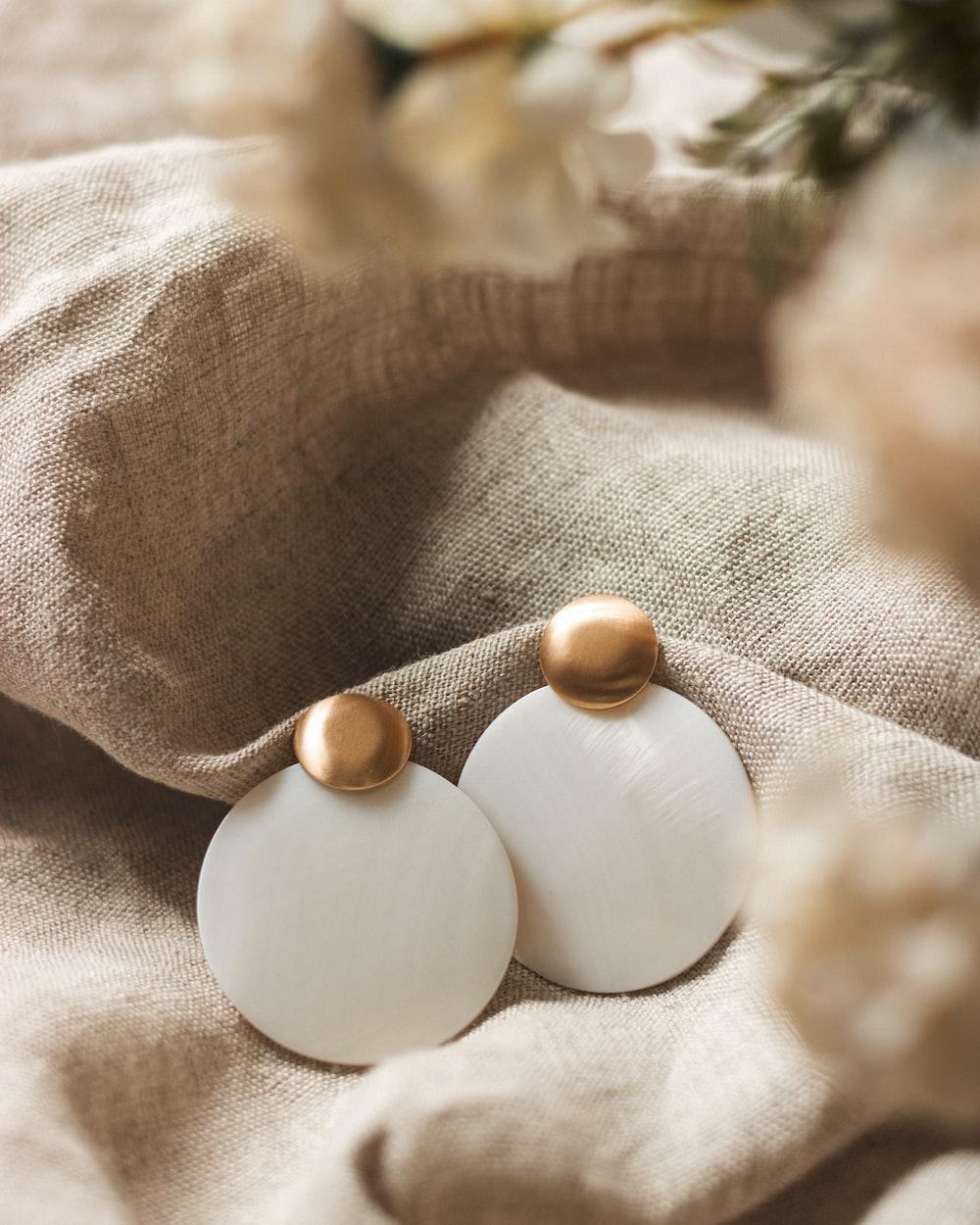 white egg on white textile