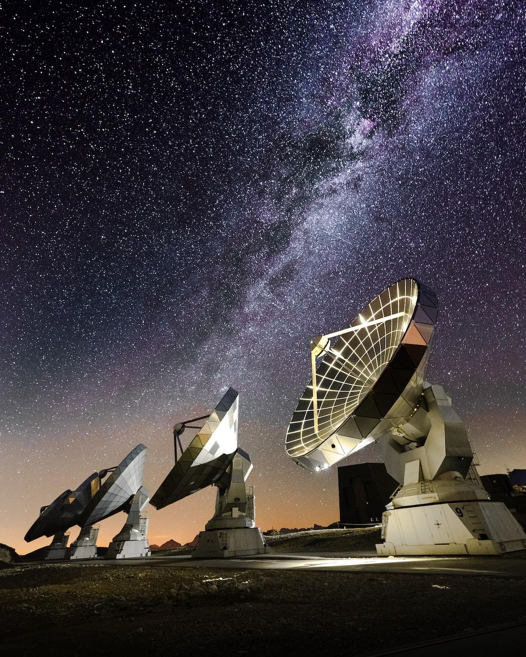 interferometers under the Milky Way