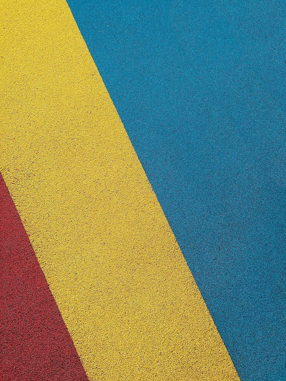 Tri-color outdoor rubber flooring