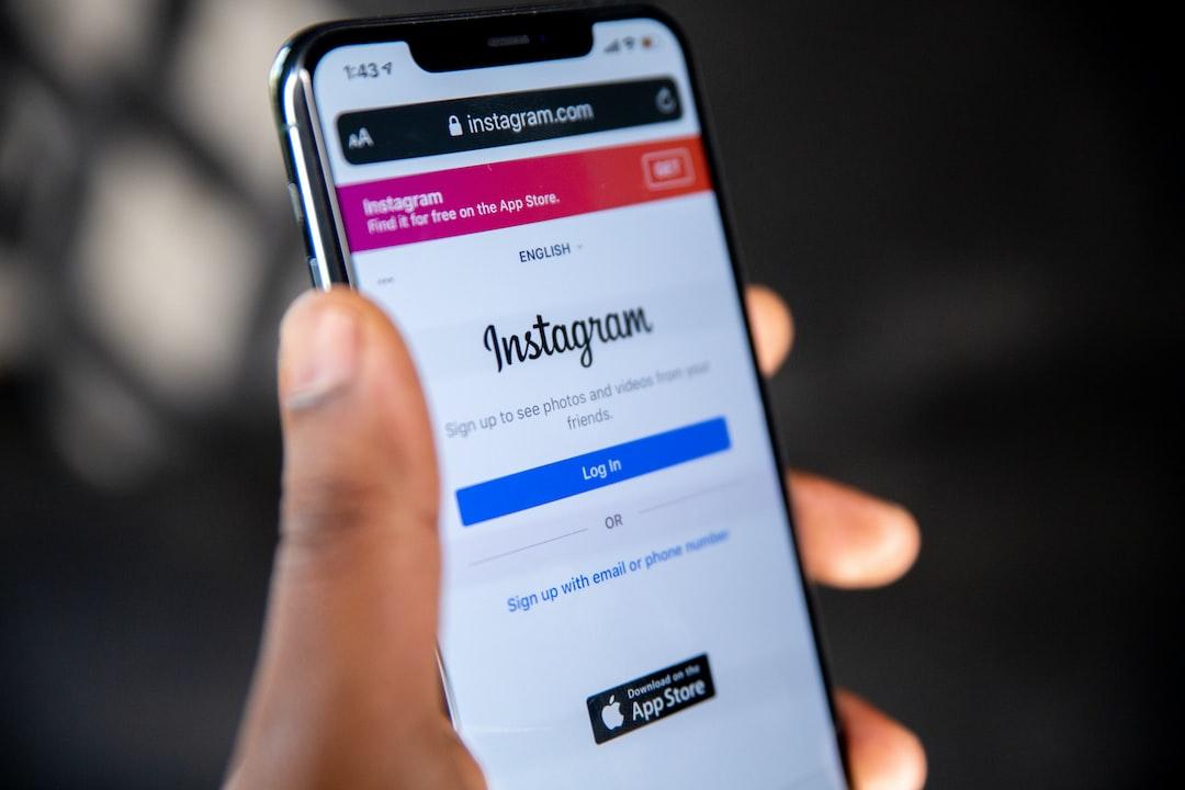 instagram.com mobile page on a mobile Safari browser