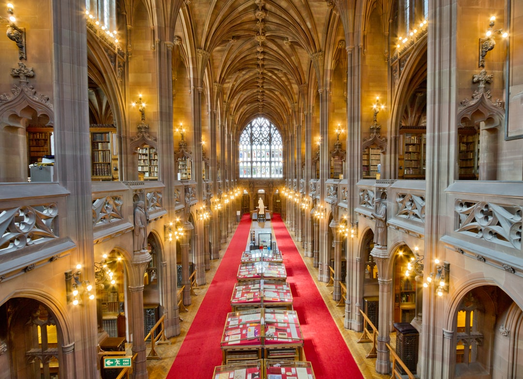 Here is a photograph taken from the reading room inside The John Rylands Library.  Located in Manchester, Greater Manchester, England.  Website : www.michaeldbeckwith.com   Email : michael@michaeldbeckwith.com