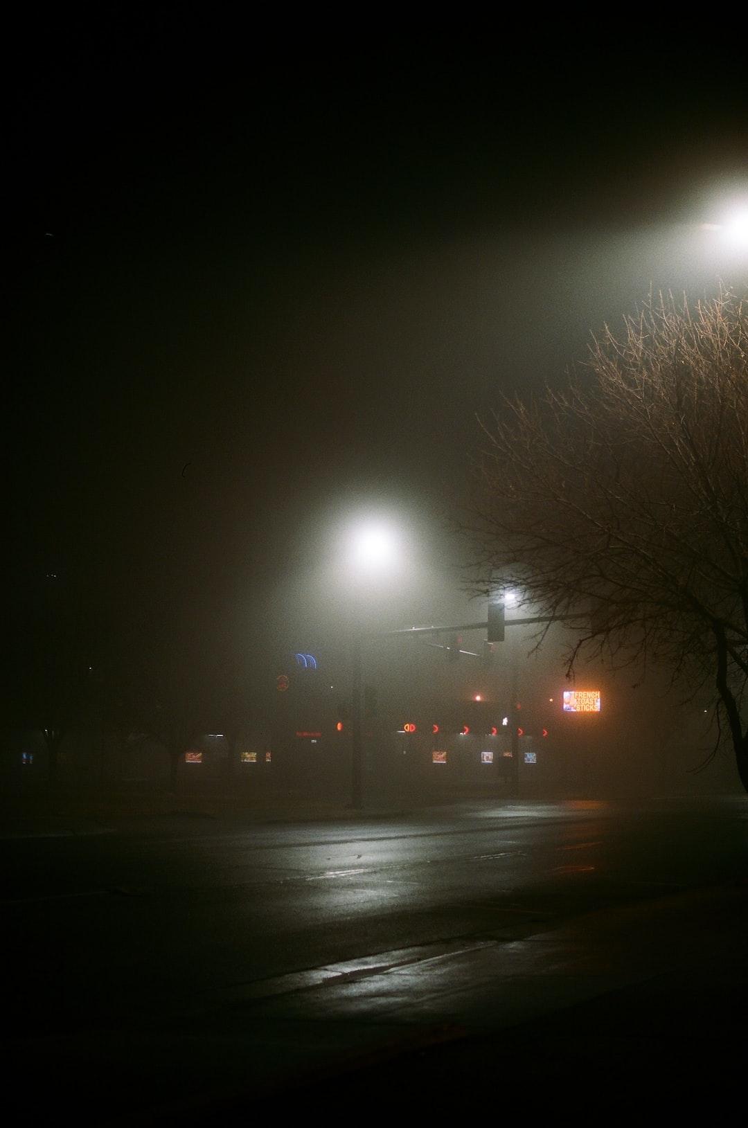 Sonic on a foggy night