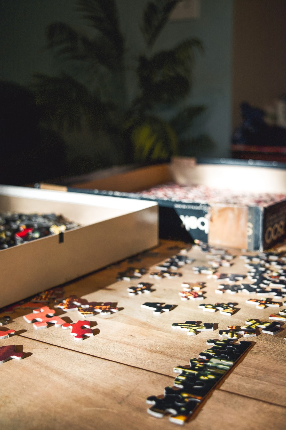 white and brown jigsaw puzzle