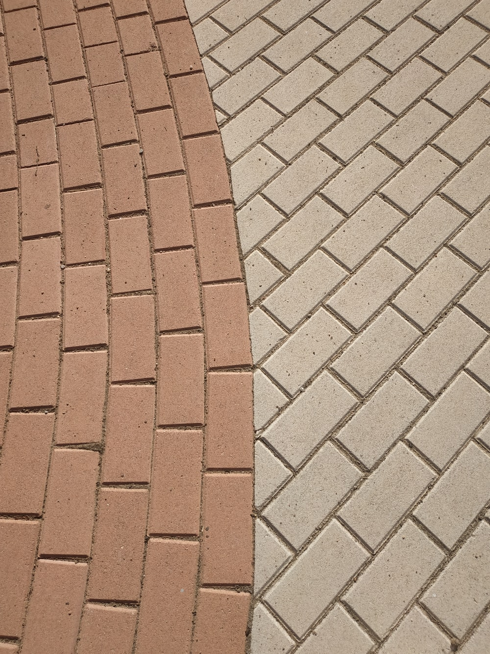 brown and gray brick pavement