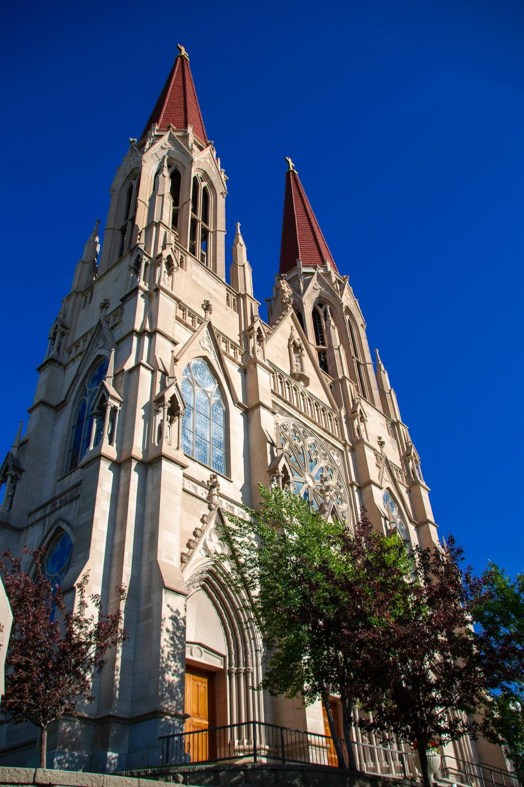 A church.