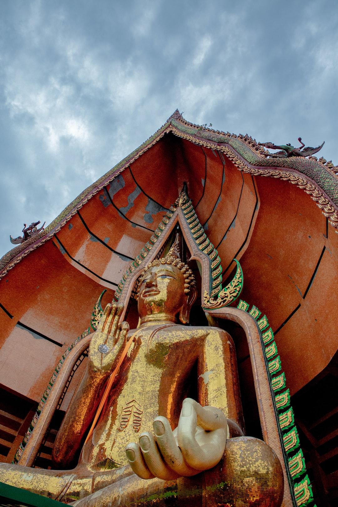 Big Buddha Statue at Wat Tham Sua Temple in Kanchanaburi Province, Thailand