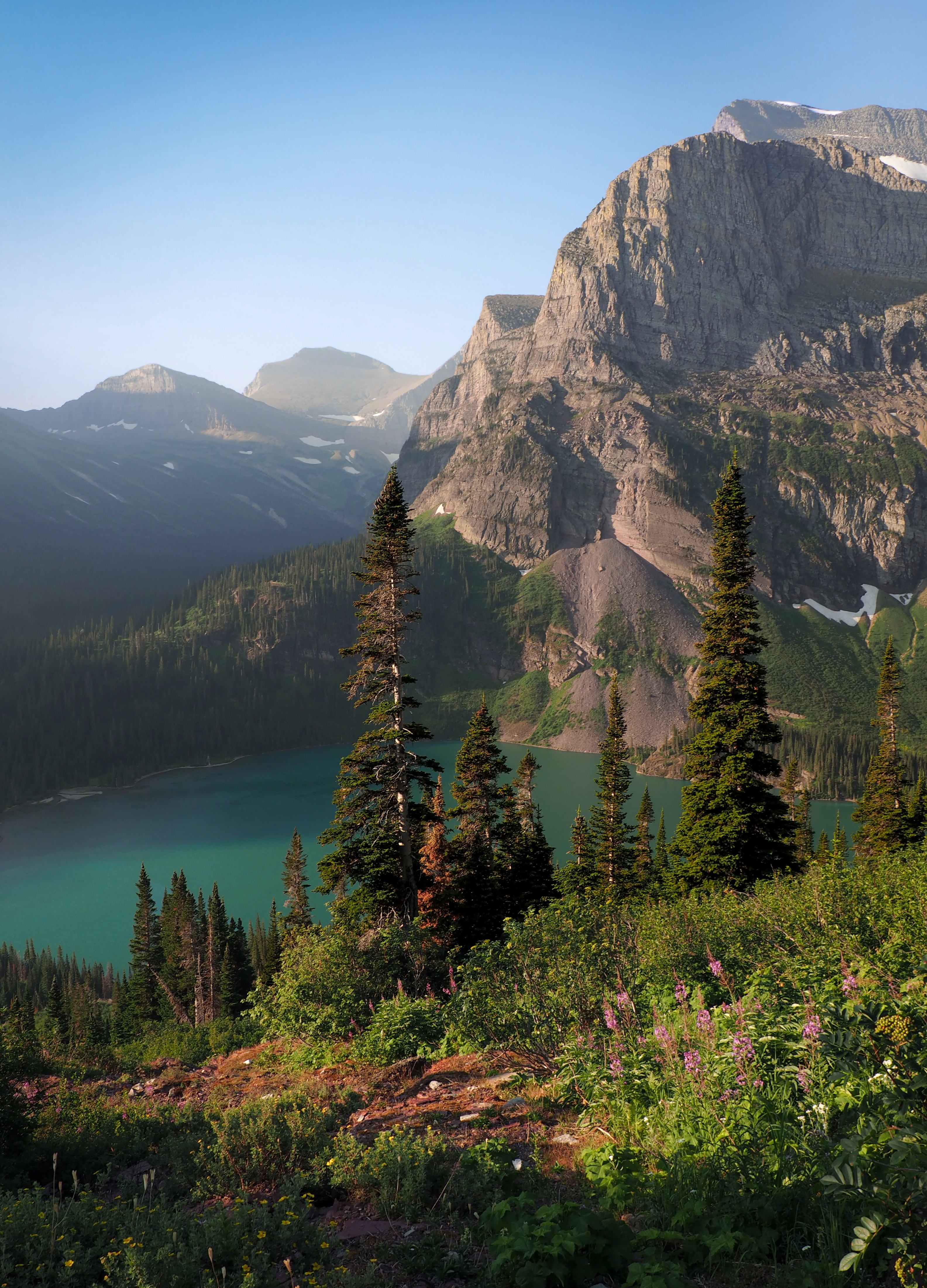 A morning shot from the Grinnell Glacier Trail in Glacier National Park, Montana, USA.