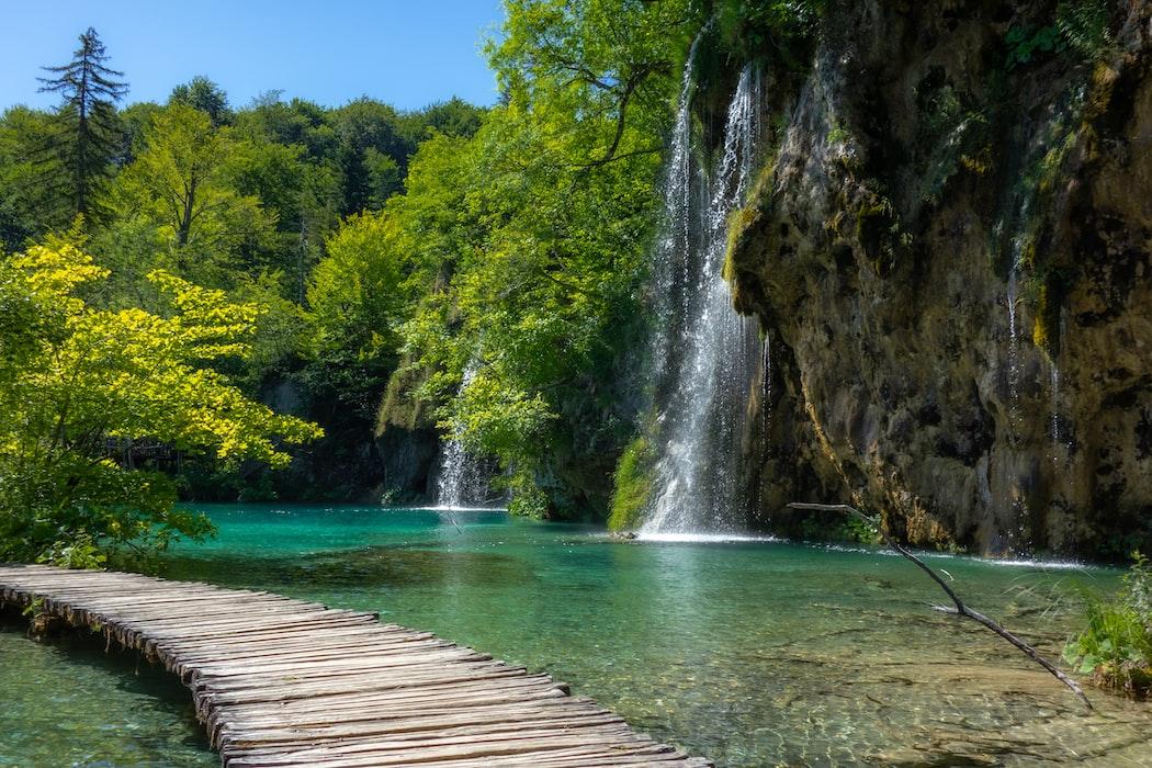 Plitvice lakes in Croatia in October