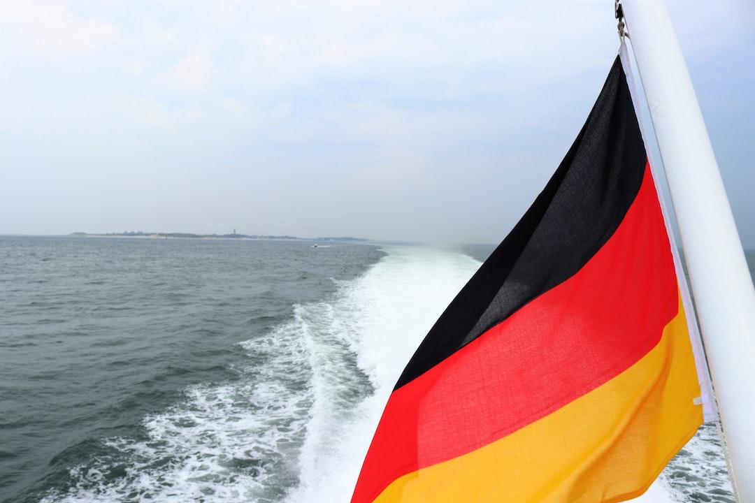 German Flag on Sea