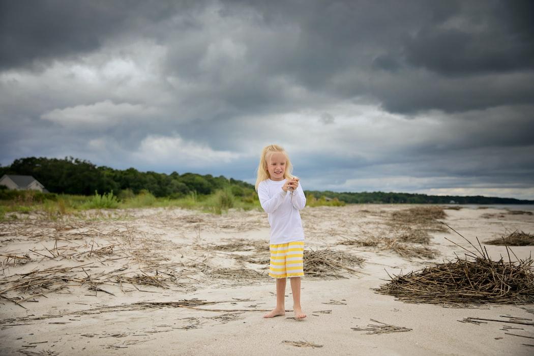 A kid in Mitchellville Beach Park