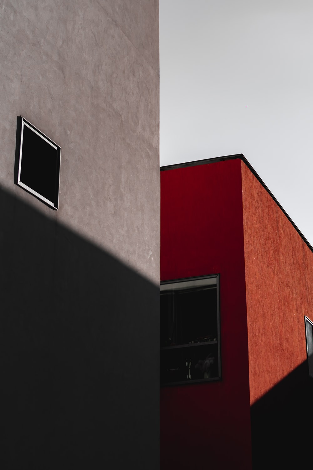 white and red concrete building