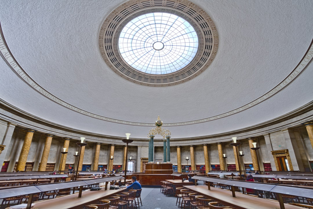 Here is a photograph taken from the reading room inside Manchester Central Library.  Located in Manchester, Greater Manchester, England.  Website : www.michaeldbeckwith.com   Email : michael@michaeldbeckwith.com