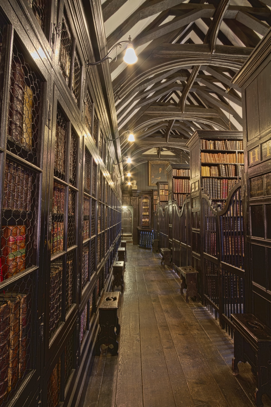 Here is a photograph taken from inside Chetham's Library.  Located in Manchester, Greater Manchester, England.  Website : www.michaeldbeckwith.com   Email : michael@michaeldbeckwith.com