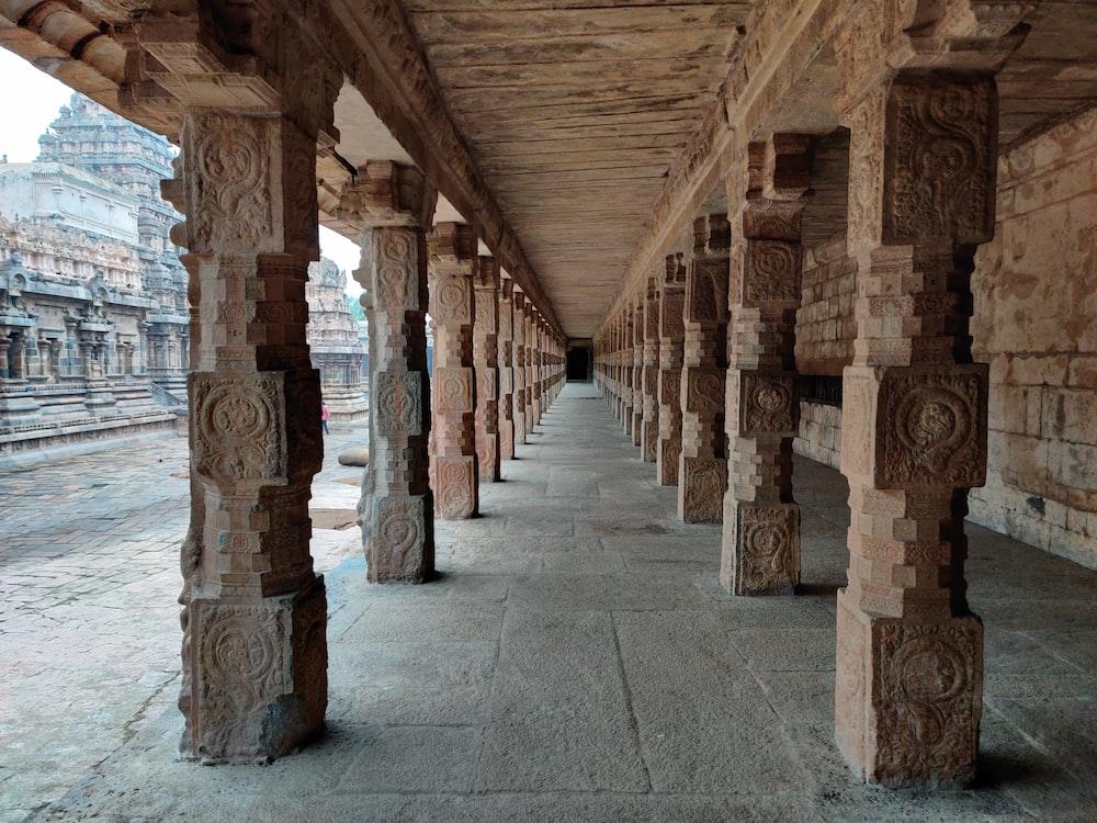 brown concrete posts during daytime