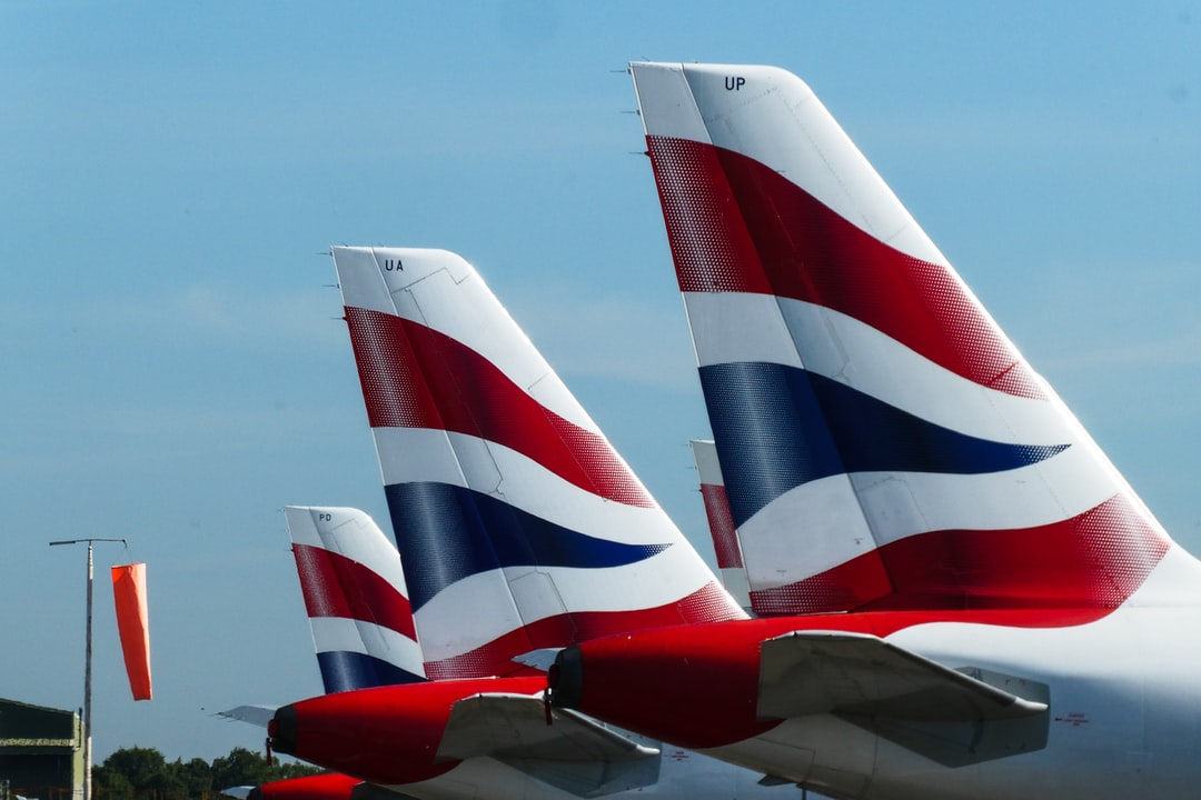 Three of the many British Airways aircraft, parked at Bournemouth Airport, due to the global pandemic.