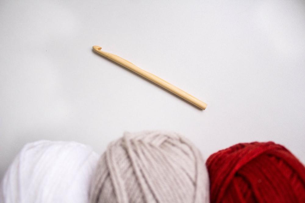 white yarn on white textile