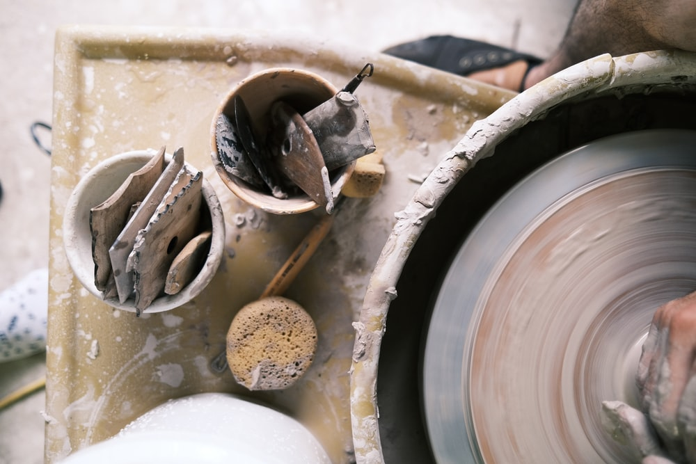 brown and gray metal tool