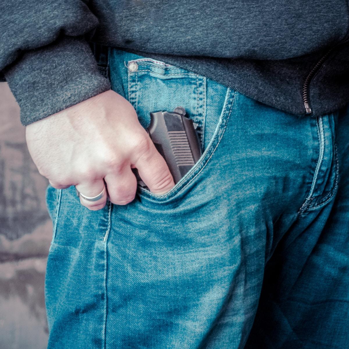 asesinato, ADN, person in blue denim jeans holding black semi automatic pistol