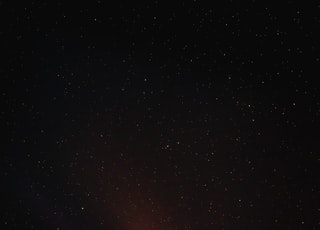 black and white stars during night time