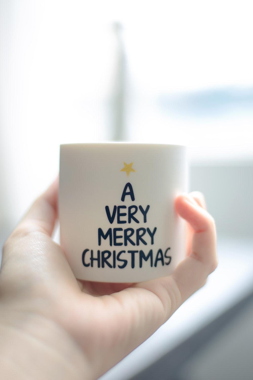 white and black happy new year printed ceramic mug