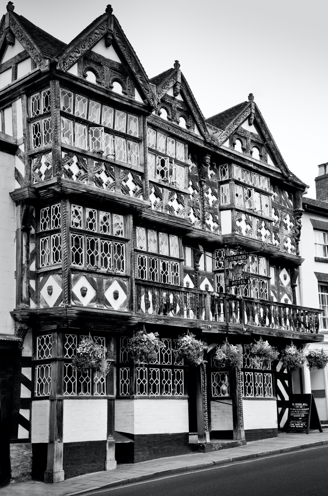 Here is a photograph taken from The Feathers Hotel.  Located in Ludlow, Shropshire, England.  Website : www.michaeldbeckwith.com   Email : michael@michaeldbeckwith.com
