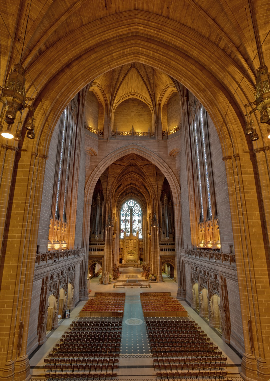 Here is a photograph taken from the nave inside Liverpool Anglican Cathedral.  Located in Liverpool, Mersyside, England.  Website : www.michaeldbeckwith.com   Email : michael@michaeldbeckwith.com