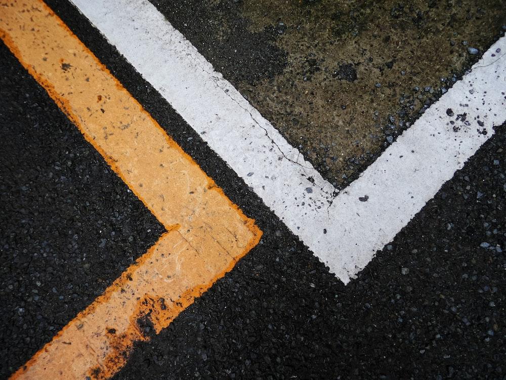 white and black concrete road