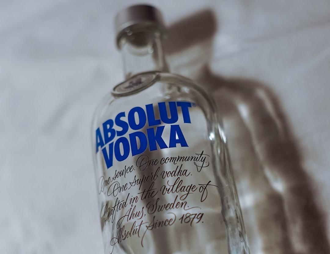 An Absolut Vodka bottle