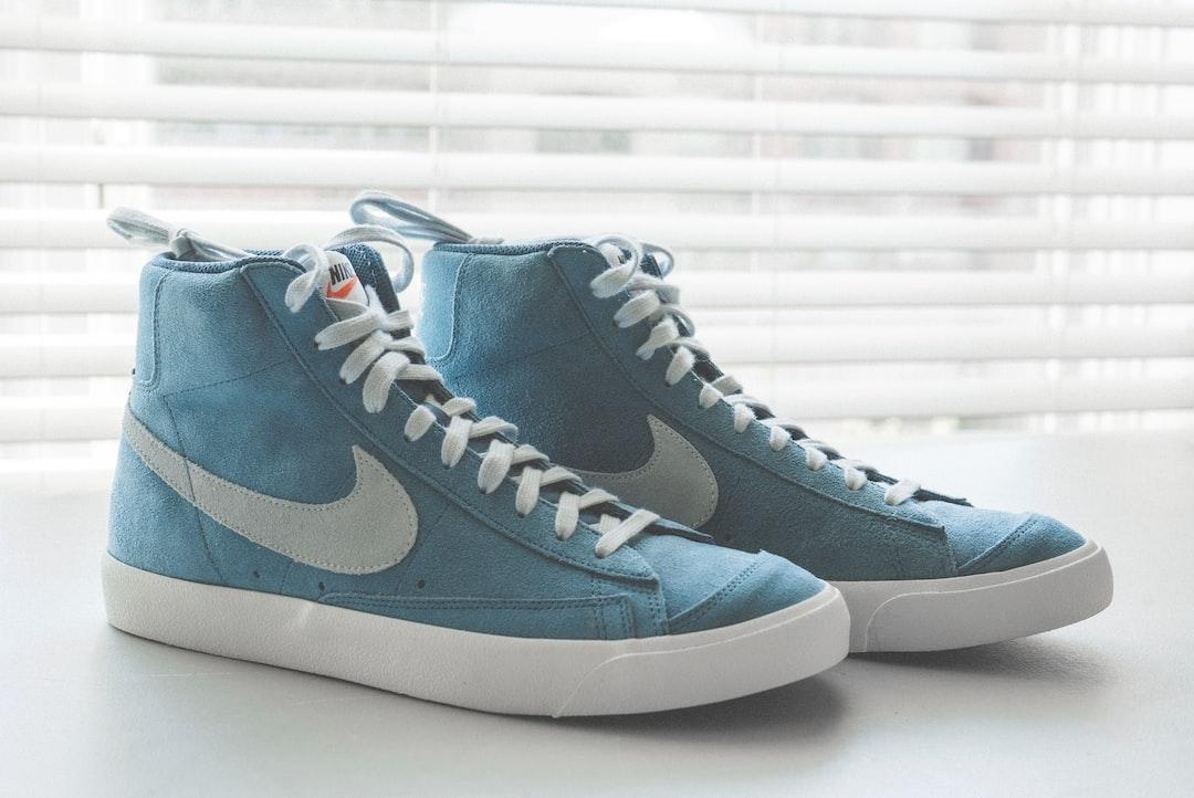 Nike Blazer on white background on white desk