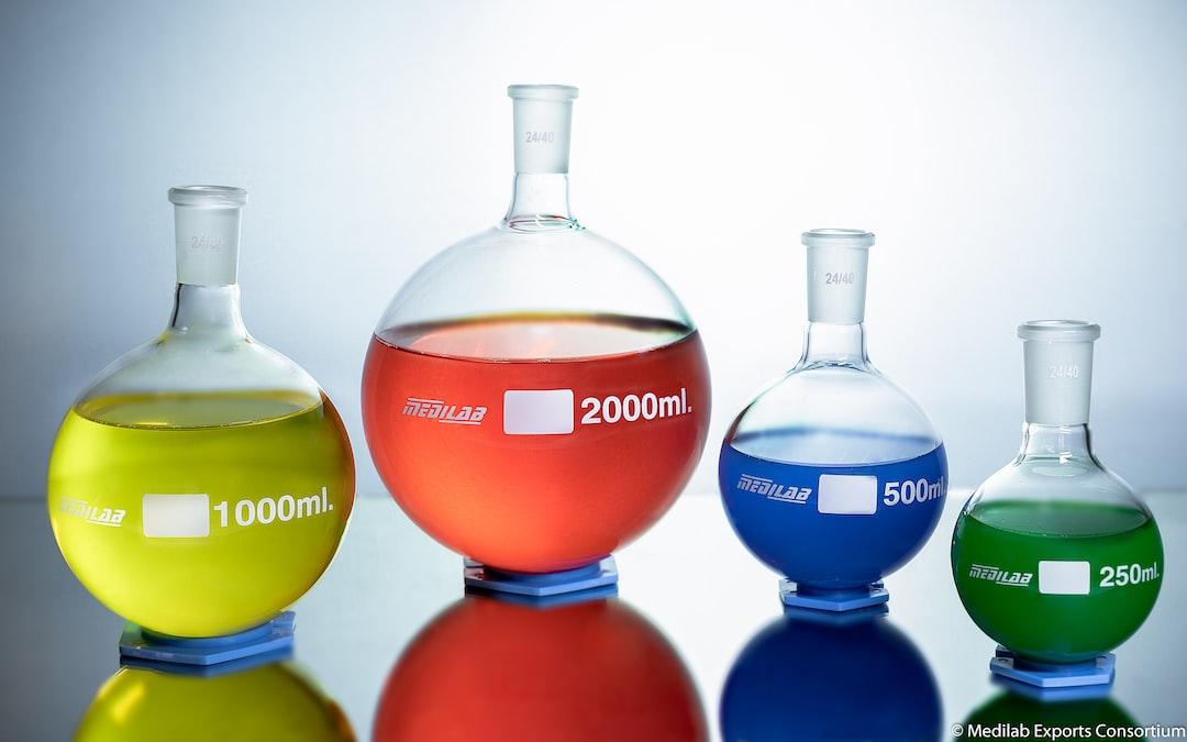 Medilab Round Bottom Flasks Product Photography
