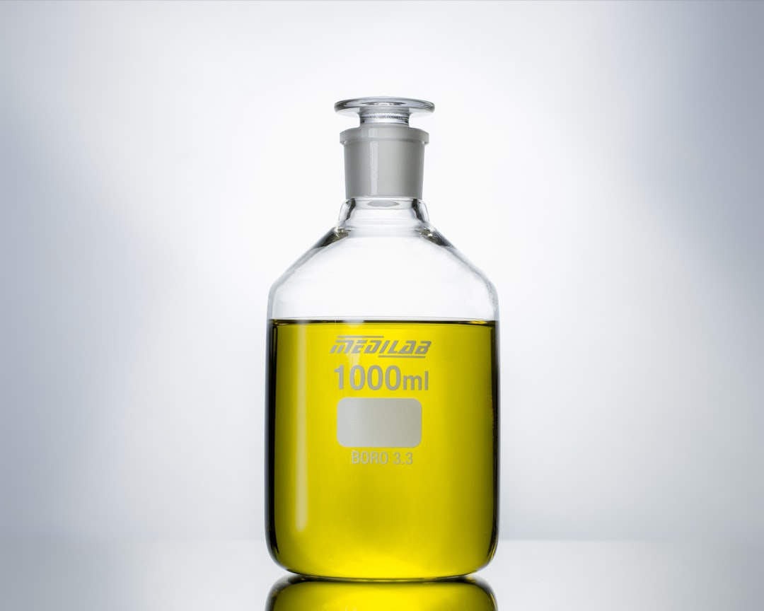 Medilab Reagent Bottle Product Photography