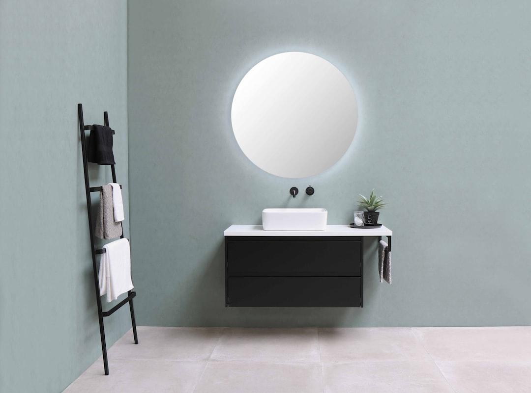 Proline- Opbouwkom Top 3 porselein rechthoek - onderkast symmetrisch 100 cm mat zwart - afdekplaat 120 cm mat wit