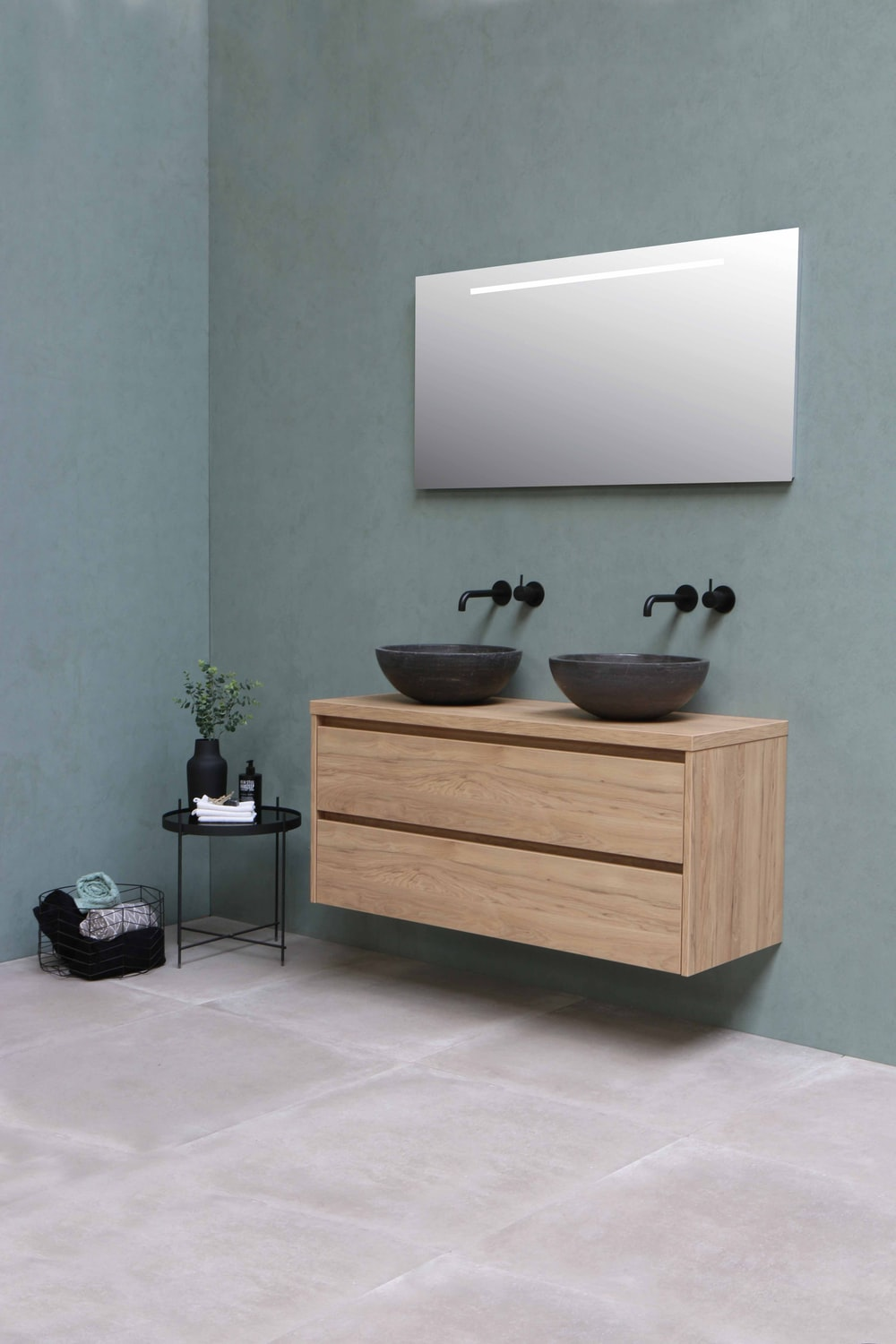 brown wooden cabinet with sink