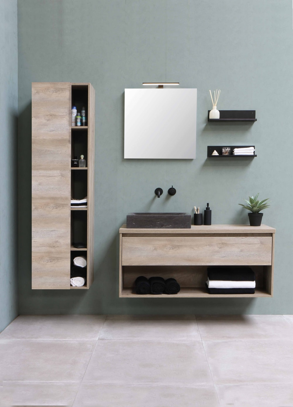 brown wooden wall mounted cabinet