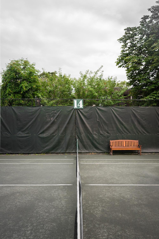 black and orange basketball court