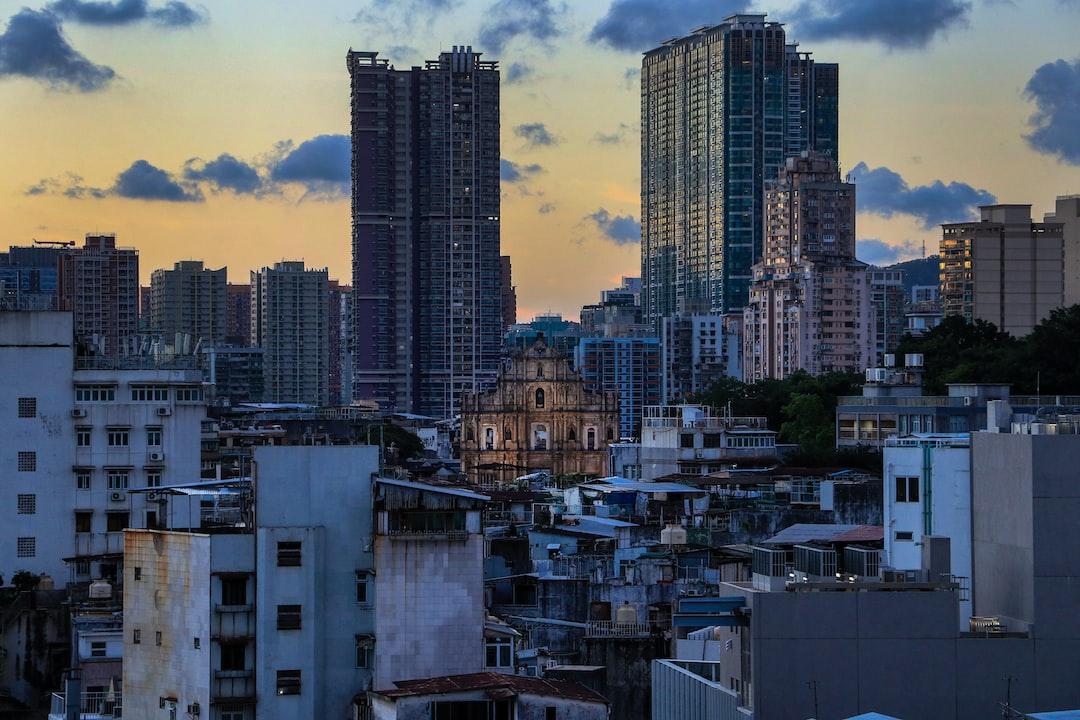 Macau's most iconic landmark, the Ruins of Saint Paul's at sunset